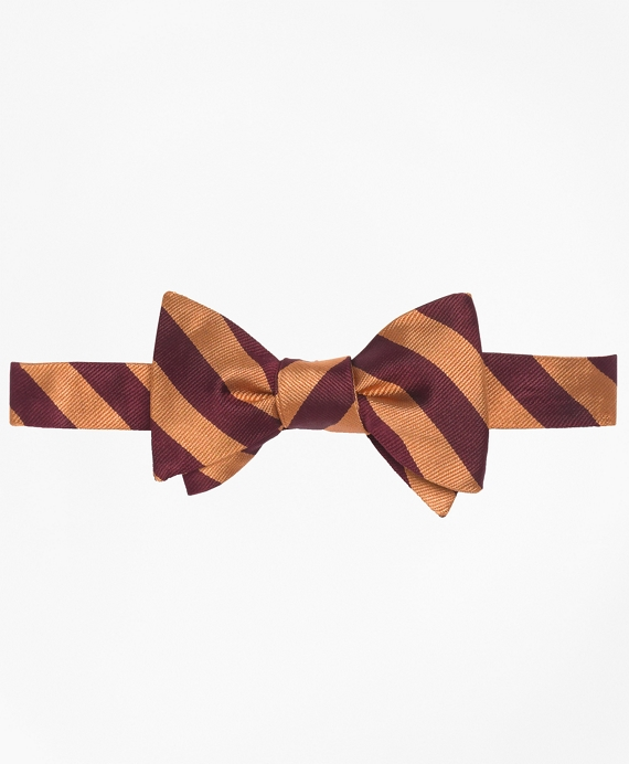 BB#4 Repp Bow Tie Gold-Burgundy