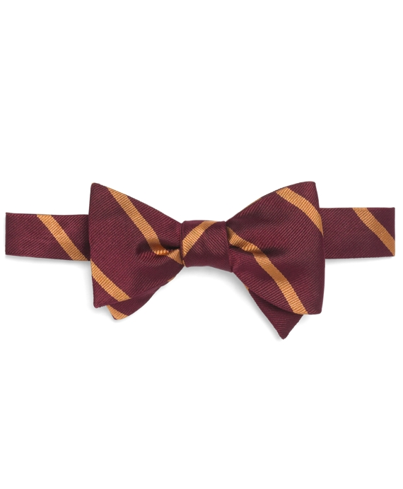 BB#3 Repp Bow Tie Burgundy-Gold