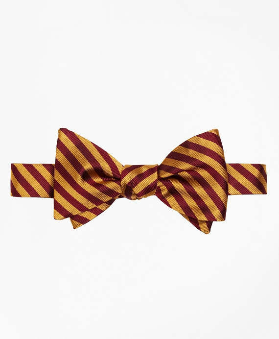 BB#5 Repp Bow Tie Gold-Burgundy