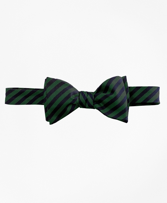 BB#5 Repp Bow Tie Green-Navy