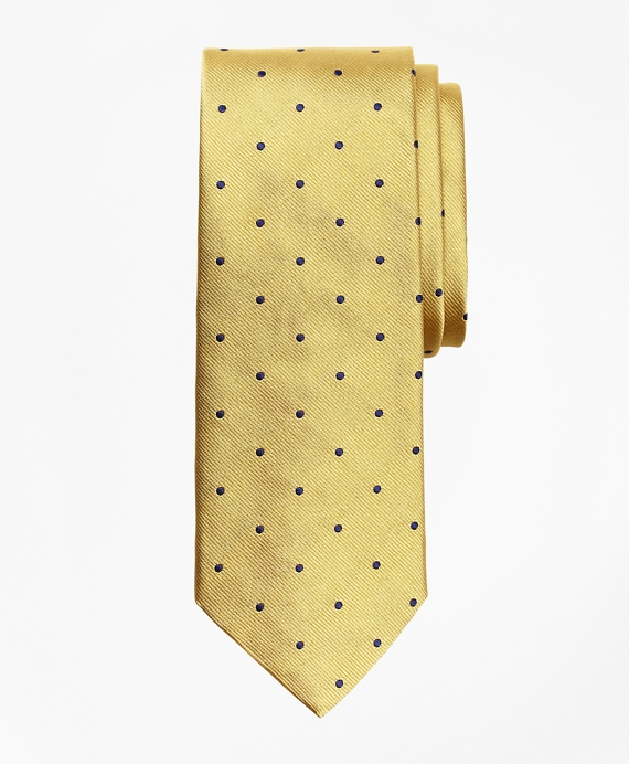 Dot Repp Tie Gold-Navy
