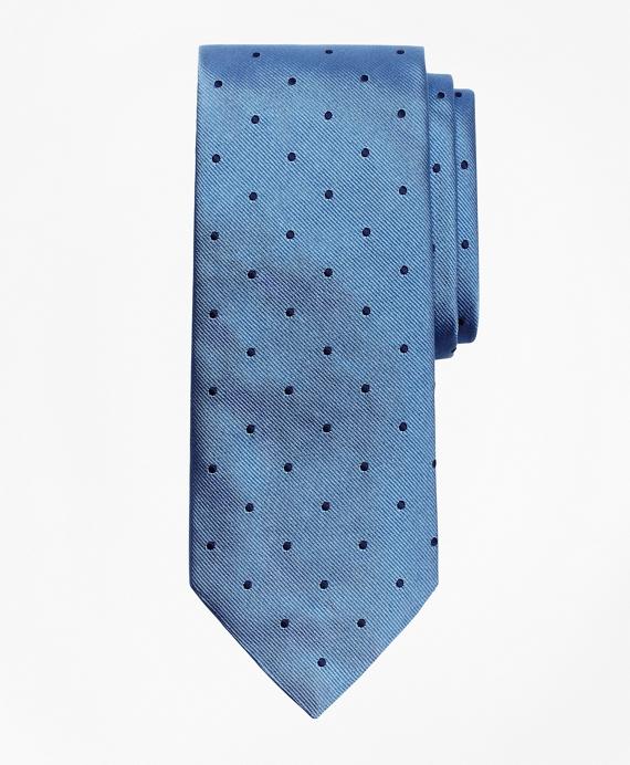 Dot Repp Tie Light Blue-Navy