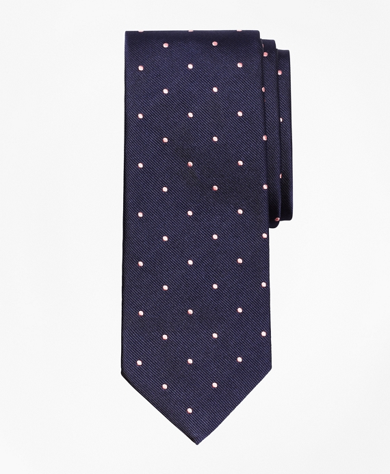 Dot Repp Tie Navy-Pink