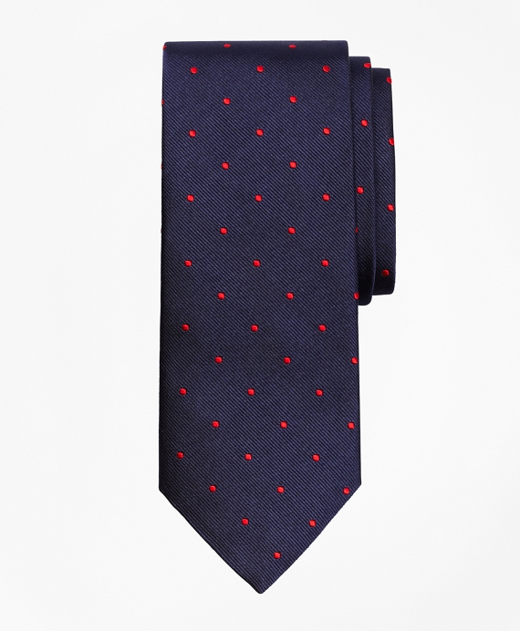 Dot Repp Tie Navy-Red