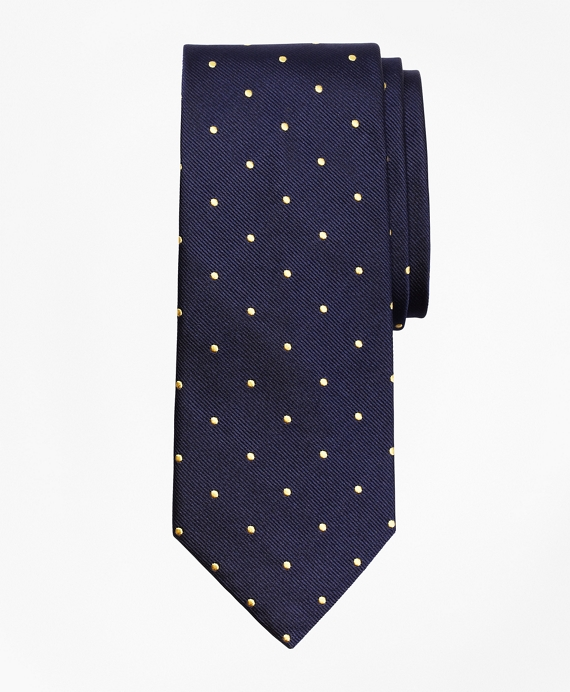 Dot Repp Tie Navy-Yellow