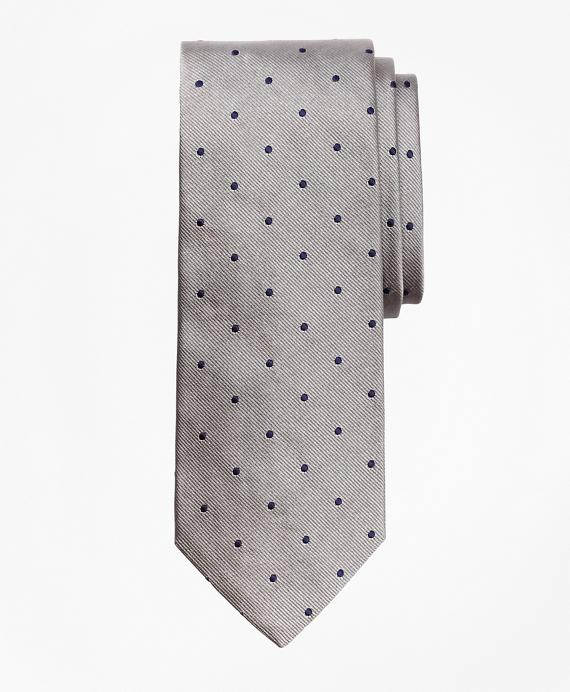 Dot Repp Tie Silver-Navy