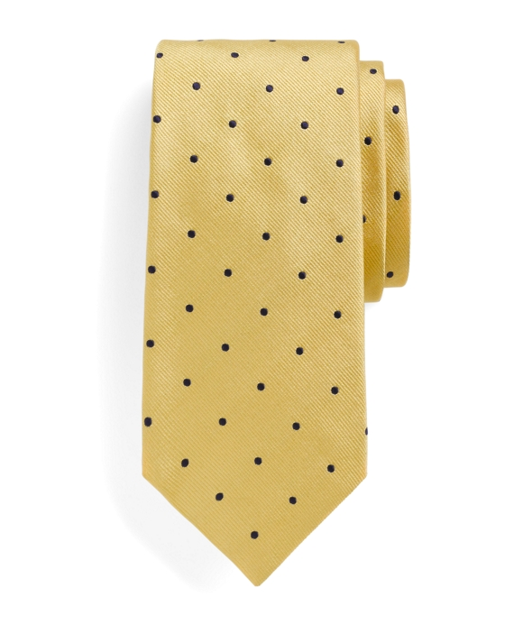 Dot Repp Tie Yellow-Navy