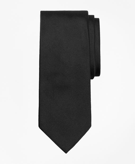 Solid Repp Tie Black