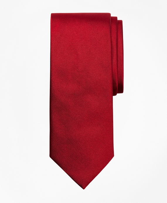 Solid Repp Tie Red