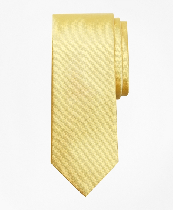 Solid Repp Tie Yellow