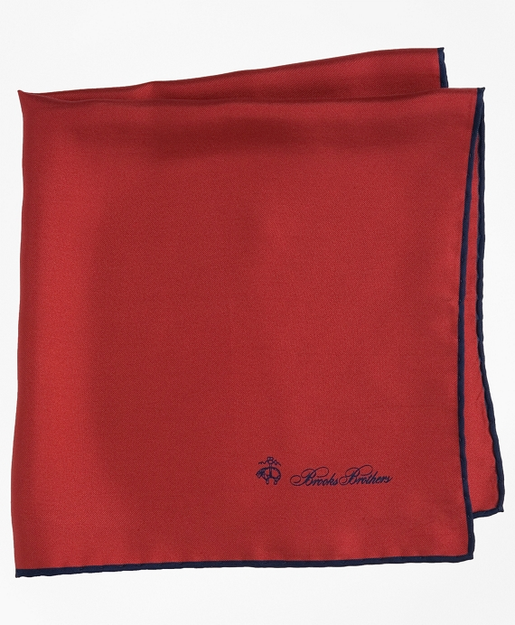 Silk Pocket Square Apple Red