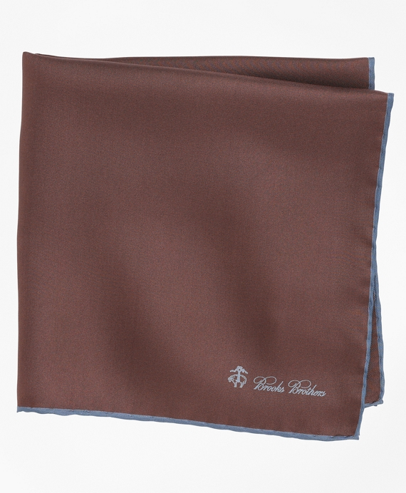 Silk Pocket Square Brown