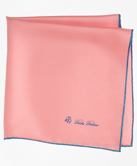 Silk Pocket Square Coral