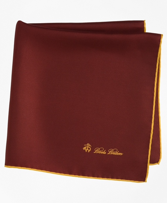 Silk Pocket Square Dark Red