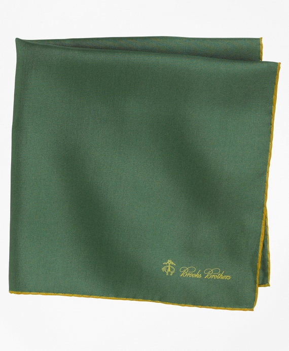 Silk Pocket Square Green