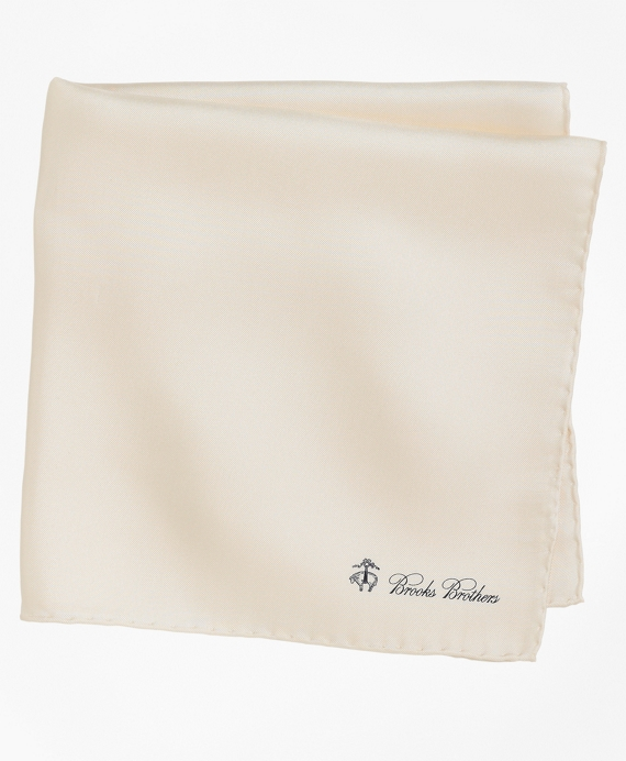 Silk Pocket Square Ivory