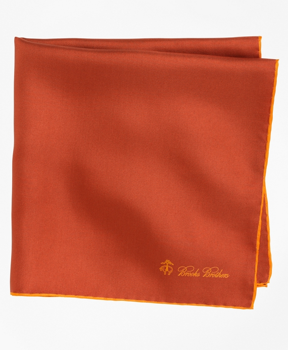 Silk Pocket Square Orange