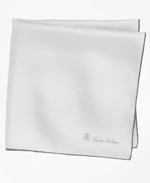 Silk Pocket Square Silver