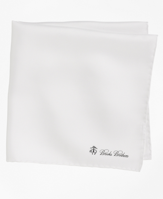 Silk Pocket Square White