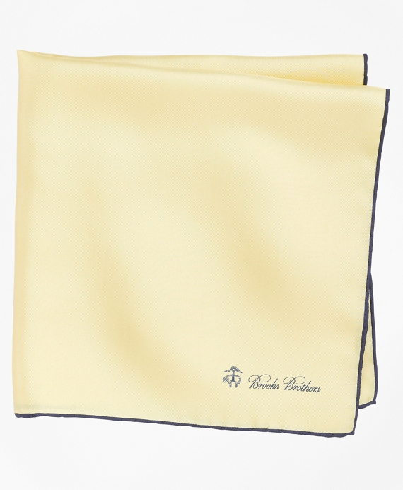 Silk Pocket Square Yellow