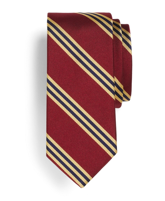 BB#1 Rep Slim Tie Burgundy