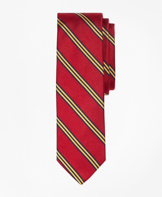 Mini BB#1 Repp Slim Tie Dark Red