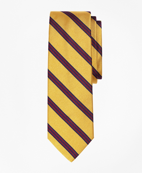 Mini BB#1 Repp Slim Tie Gold-Burgundy