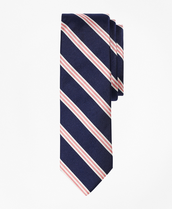 Mini BB#1 Repp Slim Tie Navy-Pink