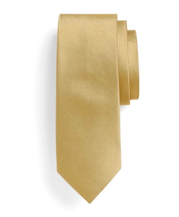 Solid Slim Tie Gold