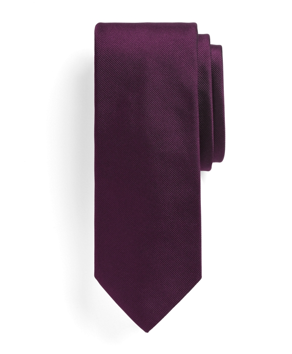 Solid Slim Tie Purple