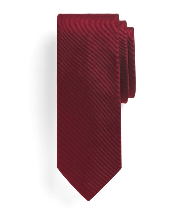 Solid Slim Tie Red