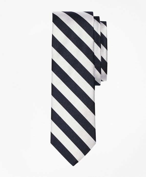 BB#4 Repp Slim Tie Navy-White