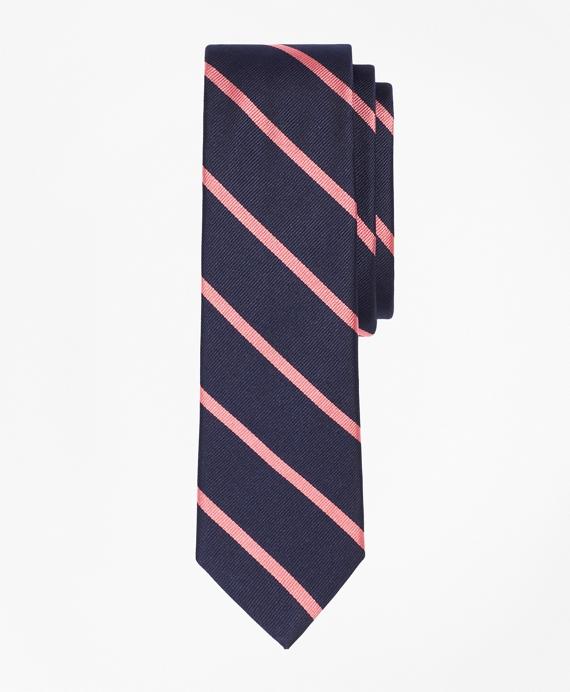 BB#3 Repp Slim Tie Navy-Pink