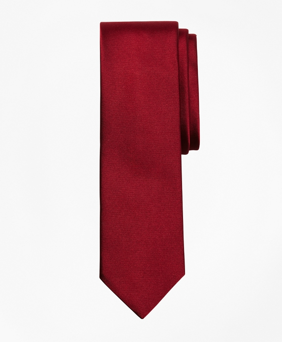 Formal Satin Slim Tie Burgundy