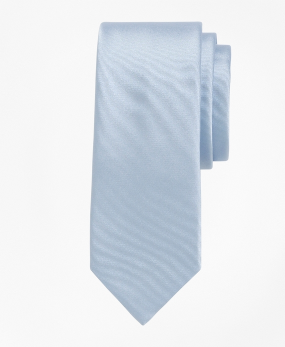 Formal Satin Slim Tie Light Blue