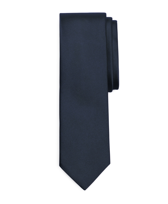 Formal Satin Slim Tie Navy