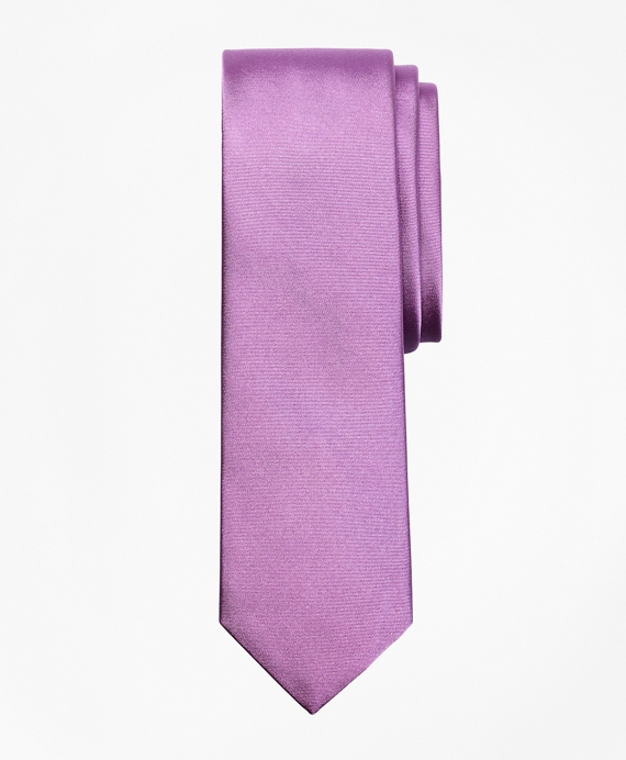 Formal Satin Slim Tie Purple