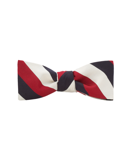 Black Fleece Triple Guard Stripe Bow Tie