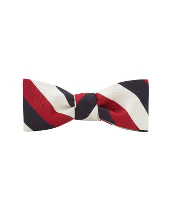Black Fleece Triple Guard Stripe Bow Tie
