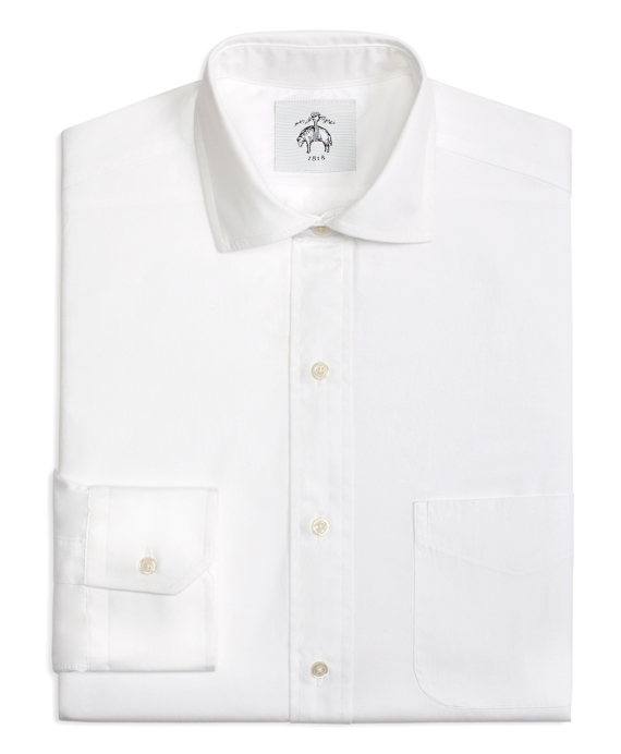 Pinpoint Spread Collar Shirt White