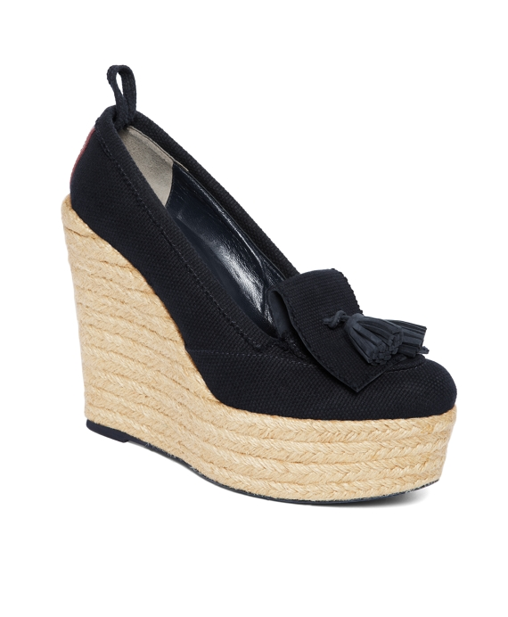 TASSEL WEDGE Navy