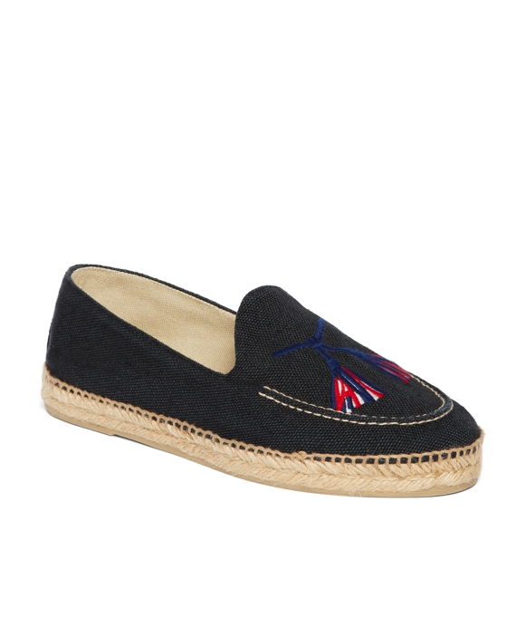 STUBBS AND WOOTTON FOR BLACK FLEECE ESPADRILLE Navy