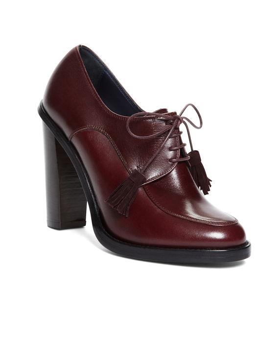 LACE UP OXFORD BOOTIE Burgundy