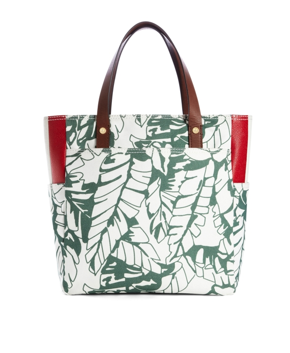 CANVAS TOTE Green-White