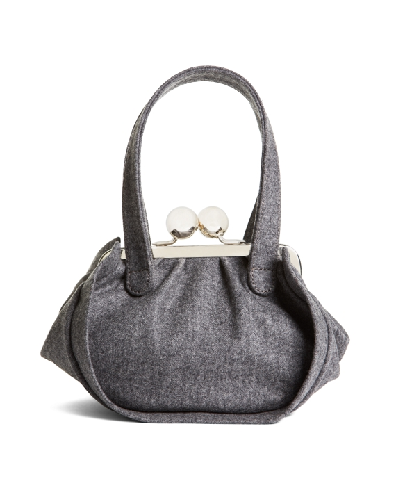 WOOL SNAP CLUTCH Grey