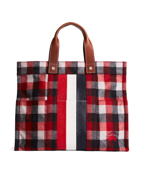 LARGE POCKET TOTE Red-Grey