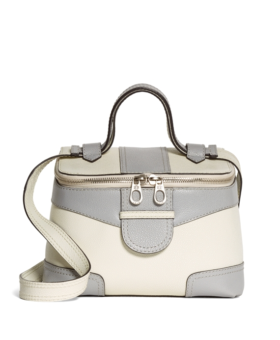 TOP ZIP HANDBAG White-Grey