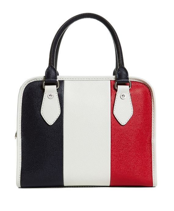 Women's Navy, White, and Red Bleecker Handbag | Brooks Brothers
