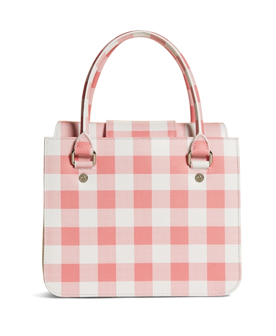 Leather Gingham Bag Pink-White