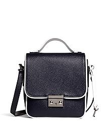 Leather Mini Lock Bag
